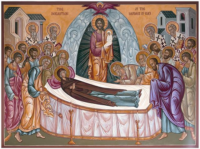 Image result for dormition lent orthodox icons