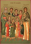 Icon of Seven Holy Maccabees